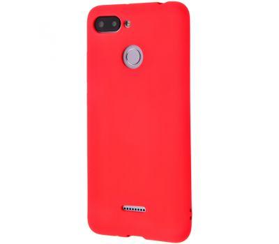 Чехол Molan Cano для Xiaomi Redmi 6 матовый красный