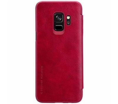Чехол книжка для Samsung Galaxy S9 Nillkin Qin series красный 926785