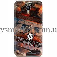 Силиконовый чехол Remax Meizu M2 Note World Of Tanks