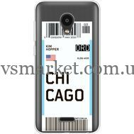 Силиконовый чехол BoxFace Meizu C9 Ticket Chicago (35757-cc82)