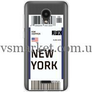 Силиконовый чехол BoxFace Meizu C9 Ticket New York (35757-cc84)