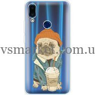 Силиконовый чехол BoxFace Meizu Note 9 Dog Coffeeman (36864-cc70)