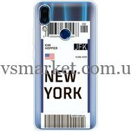 Силиконовый чехол BoxFace Meizu Note 9 Ticket New York (36864-cc84)