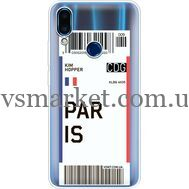 Силиконовый чехол BoxFace Meizu Note 9 Ticket Paris (36864-cc86)