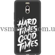 Силиконовый чехол BoxFace Meizu M6 Note hard times good times (35130-bk72)