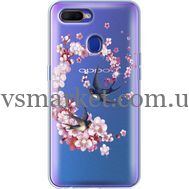 Силиконовый чехол BoxFace OPPO A5s Swallows and Bloom (938515-rs4)