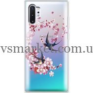 Силиконовый чехол BoxFace Samsung N975 Galaxy Note 10 Plus Swallows and Bloom (937687-rs4)