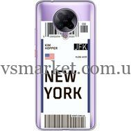 Силиконовый чехол BoxFace Xiaomi Poco F2 Pro Ticket New York (40089-cc84)
