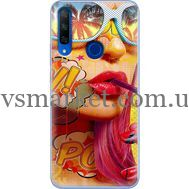 Силиконовый чехол BoxFace Huawei Honor 9X Yellow Girl Pop Art (37996-up2442)