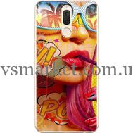 Силиконовый чехол BoxFace Huawei Mate 10 Lite Yellow Girl Pop Art (32844-up2442)