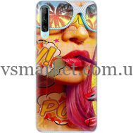 Силиконовый чехол BoxFace Huawei P Smart Pro Yellow Girl Pop Art (38612-up2442)