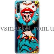 Силиконовый чехол BoxFace Huawei P Smart Pro Girl Pop Art (38612-up2444)