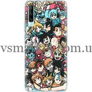 Силиконовый чехол BoxFace Huawei P Smart Pro Anime Stickers (38612-up2458)