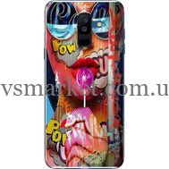Силиконовый чехол BoxFace Samsung A605 Galaxy A6 Plus 2018 Colorful Girl (33377-up2443)