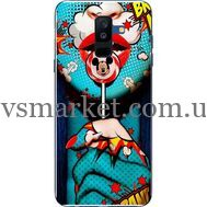 Силиконовый чехол BoxFace Samsung A605 Galaxy A6 Plus 2018 Girl Pop Art (33377-up2444)