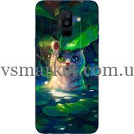 Силиконовый чехол BoxFace Samsung A605 Galaxy A6 Plus 2018 White Tiger Cub (33377-up2452)