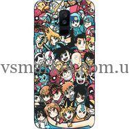 Силиконовый чехол BoxFace Samsung A605 Galaxy A6 Plus 2018 Anime Stickers (33377-up2458)