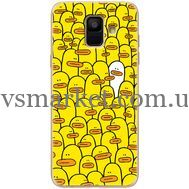 Силиконовый чехол BoxFace Samsung A600 Galaxy A6 2018 Yellow Ducklings (33376-up2428)