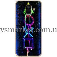 Силиконовый чехол BoxFace Samsung A600 Galaxy A6 2018 Graffiti symbols (33376-up2432)