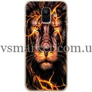 Силиконовый чехол BoxFace Samsung A600 Galaxy A6 2018 Fire Lion (33376-up2437)
