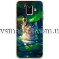 Силиконовый чехол BoxFace Samsung A600 Galaxy A6 2018 White Tiger Cub (33376-up2452)