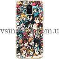 Силиконовый чехол BoxFace Samsung A600 Galaxy A6 2018 Anime Stickers (33376-up2458)
