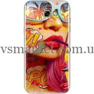 Силиконовый чехол BoxFace Samsung A720 Galaxy A7 2017 Yellow Girl Pop Art (27930-up2442)