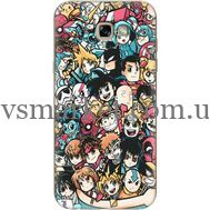Силиконовый чехол BoxFace Samsung A720 Galaxy A7 2017 Anime Stickers (27930-up2458)