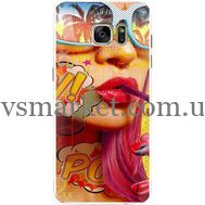 Силиконовый чехол BoxFace Samsung G930 Galaxy S7 Yellow Girl Pop Art (24997-up2442)