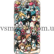 Силиконовый чехол BoxFace Samsung J5 Prime G570F Anime Stickers (26814-up2458)