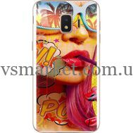 Силиконовый чехол BoxFace Samsung J260 Galaxy J2 Core Yellow Girl Pop Art (35249-up2442)