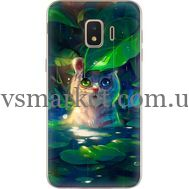 Силиконовый чехол BoxFace Samsung J260 Galaxy J2 Core White Tiger Cub (35249-up2452)