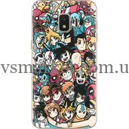 Силиконовый чехол BoxFace Samsung J260 Galaxy J2 Core Anime Stickers (35249-up2458)