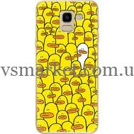 Силиконовый чехол BoxFace Samsung J600 Galaxy J6 2018 Yellow Ducklings (33861-up2428)