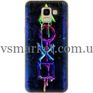 Силиконовый чехол BoxFace Samsung J600 Galaxy J6 2018 Graffiti symbols (33861-up2432)