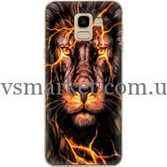 Силиконовый чехол BoxFace Samsung J600 Galaxy J6 2018 Fire Lion (33861-up2437)