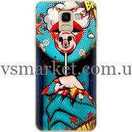 Силиконовый чехол BoxFace Samsung J600 Galaxy J6 2018 Girl Pop Art (33861-up2444)