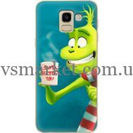 Силиконовый чехол BoxFace Samsung J600 Galaxy J6 2018 Santa Hates You (33861-up2449)