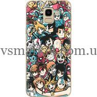 Силиконовый чехол BoxFace Samsung J600 Galaxy J6 2018 Anime Stickers (33861-up2458)