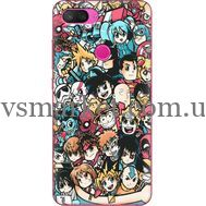 Силиконовый чехол BoxFace Xiaomi Mi 8 Lite Anime Stickers (35658-up2458)