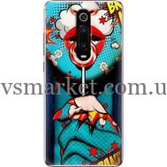 Силиконовый чехол BoxFace Xiaomi Mi 9T / Mi 9T Pro Girl Pop Art (37376-up2444)