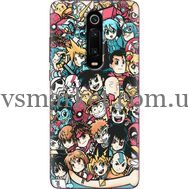 Силиконовый чехол BoxFace Xiaomi Mi 9T / Mi 9T Pro Anime Stickers (37376-up2458)