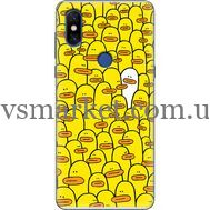 Силиконовый чехол BoxFace Xiaomi Mi Mix 3 Yellow Ducklings (36474-up2428)