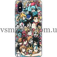 Силиконовый чехол BoxFace Xiaomi Mi Mix 3 Anime Stickers (36474-up2458)