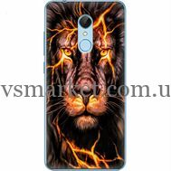Силиконовый чехол BoxFace Xiaomi Redmi 5 Fire Lion (32520-up2437)