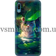 Силиконовый чехол BoxFace Huawei Y6 2019 White Tiger Cub (36451-up2452)