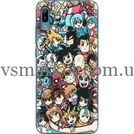 Силиконовый чехол BoxFace Huawei Y6 2019 Anime Stickers (36451-up2458)