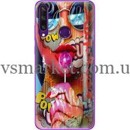 Силиконовый чехол BoxFace Huawei Y6p Colorful Girl (40017-up2443)