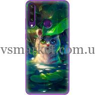 Силиконовый чехол BoxFace Huawei Y6p White Tiger Cub (40017-up2452)