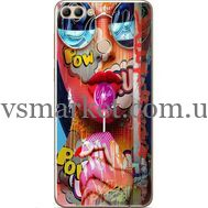 Силиконовый чехол BoxFace Huawei Y9 2018 Colorful Girl (33895-up2443)